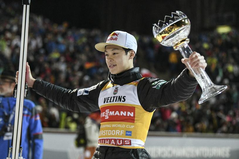 Ryoyu Kobayashi triumfuje w Oberstdorfie /PAP/EPA