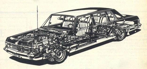 Rysunek anatomiczny samochodu. /GAZ