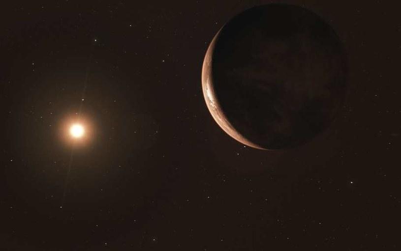 Rysunek nowo odkrytej planety na orbicie Gwiazdy Barnarda /ESO/M. Kornmesser /materiały prasowe