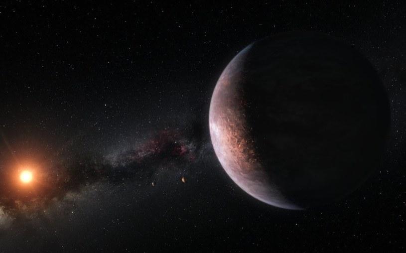 Rysunek planety z układu TRAPPIST-1 /materiały prasowe