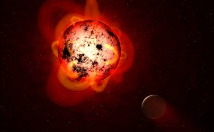 Rysunek Proxima Centauri, najbliższego nam czerwonego karła, wokół którego krąży skalista planeta, prawdopodobnie zdolna do utrzymania na powierzchni ciekłej wody /NASA, ESA, G. Bacon (STScI) /Materiały prasowe