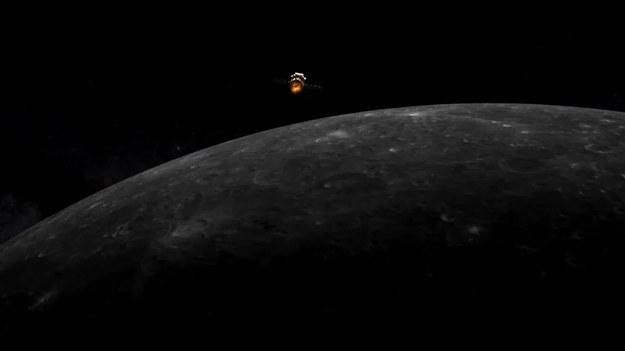 Rysunek sondy Chang'e 5 wchodzącej na orbitę Księżyca /China Lunar Exploration Project /Materiały prasowe
