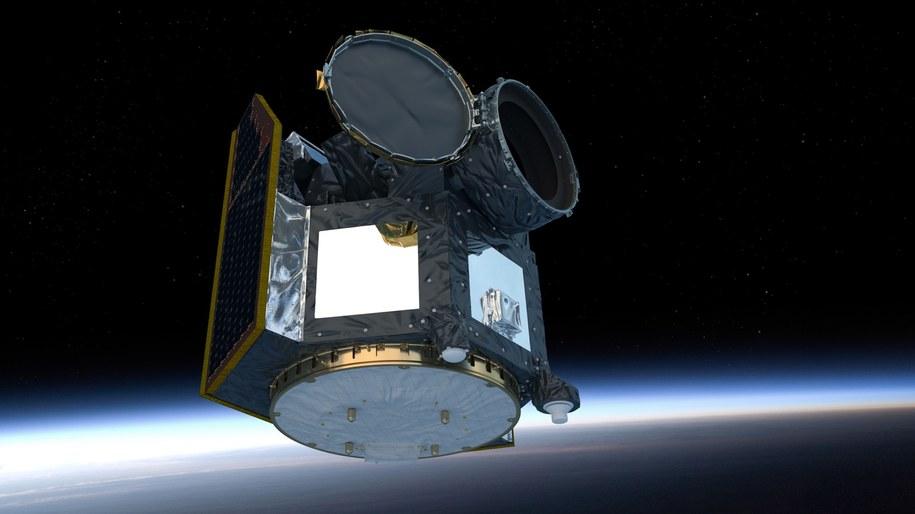 Rysunek sondy Cheops na orbicie Ziemi /ESA/ATG medialab /Materiały prasowe