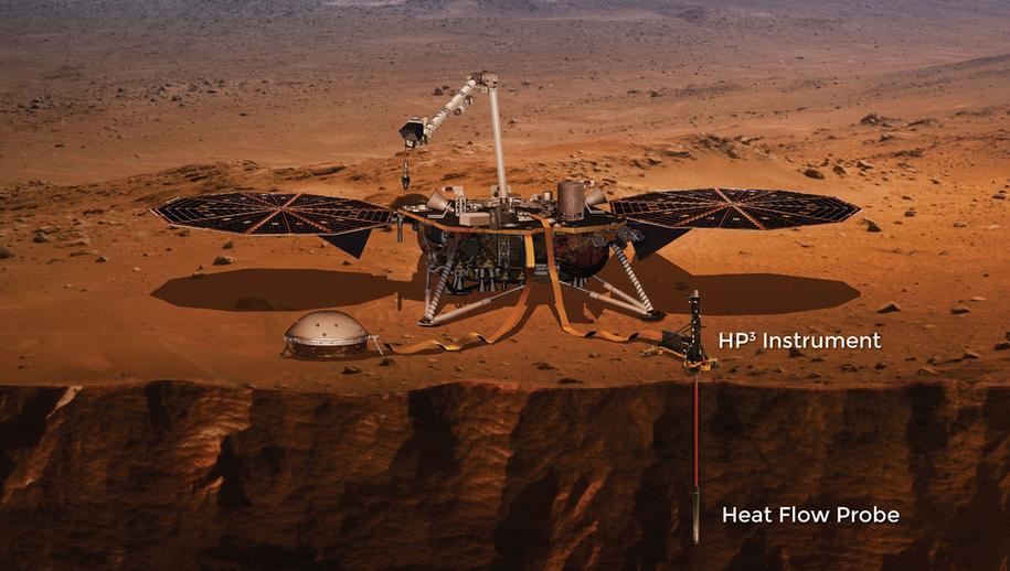 Rysunek sondy InSight /NASA