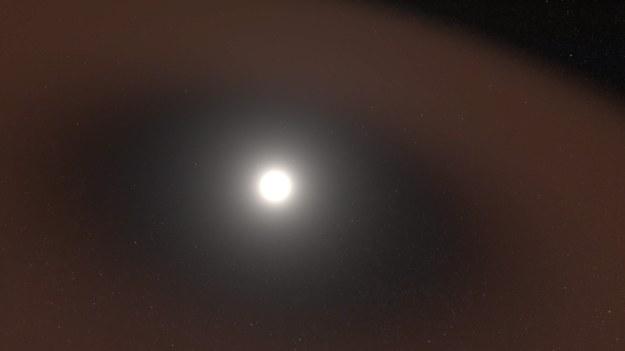 Rysunek strefy wolnej od pyłu wokół Słońca / NASA's Goddard Space Flight Center/Scott Wiessinger /Materiały prasowe