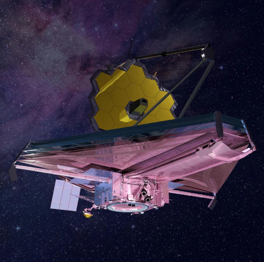 Rysunek teleskopu Jamesa Webba /NASA /Materiały prasowe