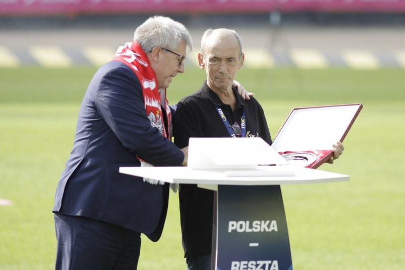 Ryszard Czarnecki i ś.pl. Zenon Plech /Fot. Adrian Ślązok/REPORTER /East News