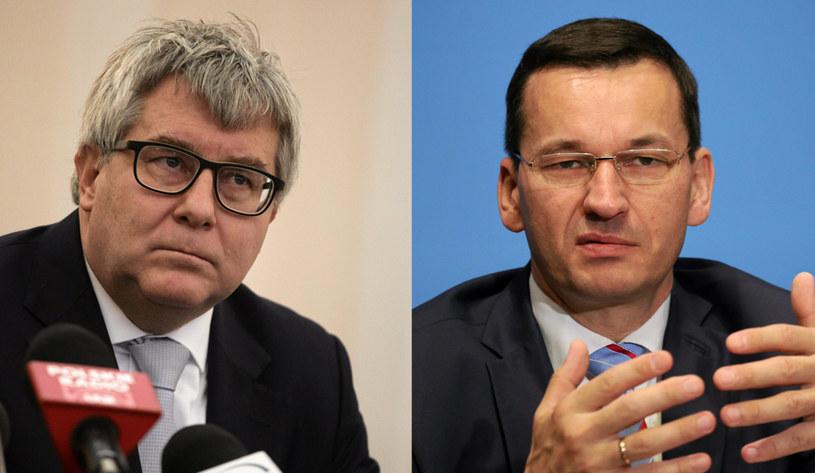 Ryszard Czarnecki, Mateusz Morawiecki /Sławomir Kamiński /
