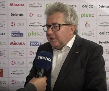 Ryszard Czarnecki o premiach dla siatkarzy za złoto MŚ. Wideo