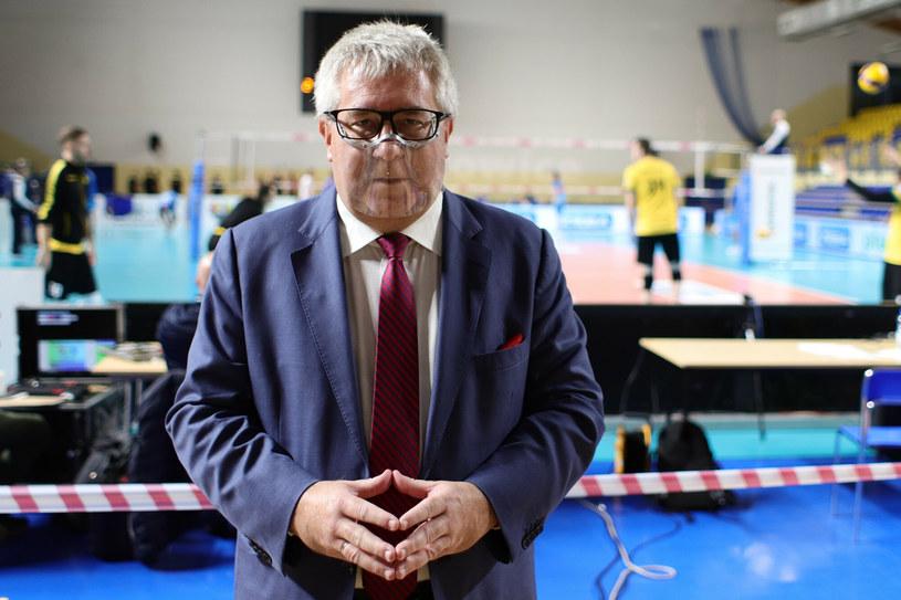 Ryszard Czarnecki zajmuje się nie tylko polityką. Jest też wiceprezesem Polskiego Związku Piłki Siatkowej /Tomasz Kudala /East News