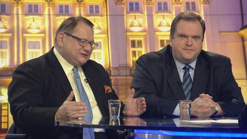 Ryszard Kalisz i Paweł Piskorski /TVN24/x-news
