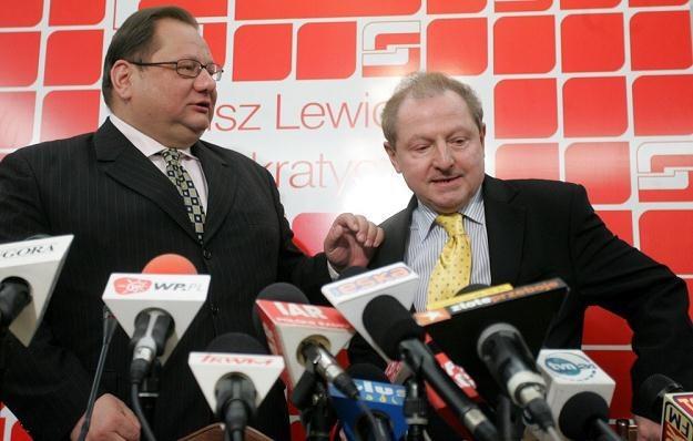 Ryszard Kalisz i Tadeusz Iwiński / fot. W. Rozbicki /Reporter