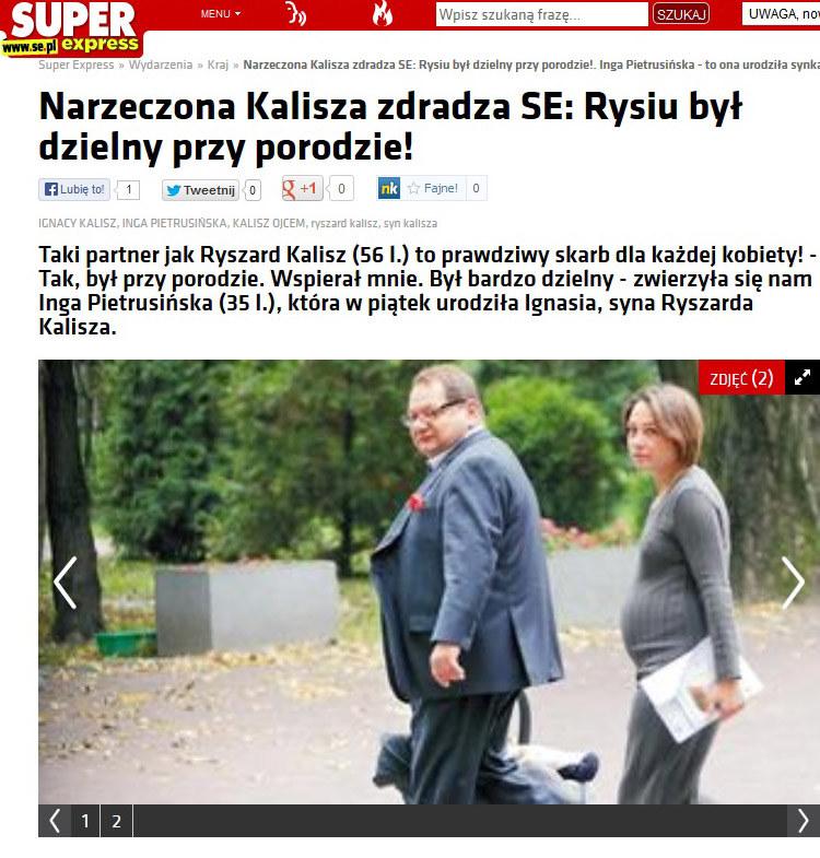 Ryszard Kalisz, Inga Pietrusińska /se.pl