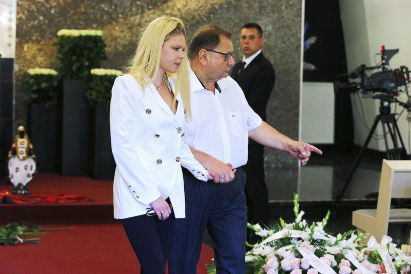 Ryszard Kalisz z żoną Dominiką, fot. Mieszko Piętka, Jordan Krzemiński /AKPA