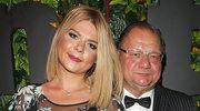 Ryszard Kalisz z żoną Dominiką na balu Fundacji TVN