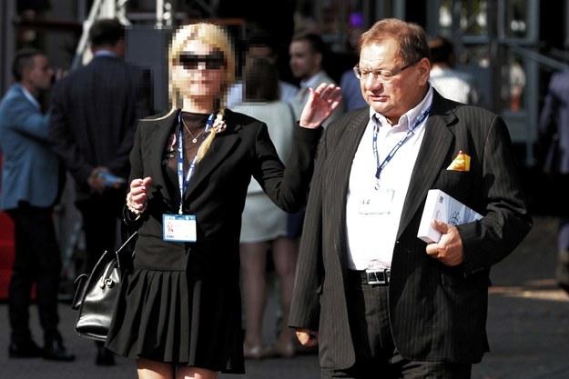 Ryszard Kalisz z żoną Dominiką / Grzegorz Momot    /PAP