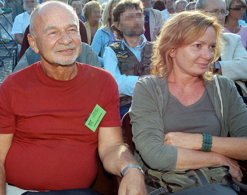 Ryszard Kotys z żoną, 2004 rok /AKPA