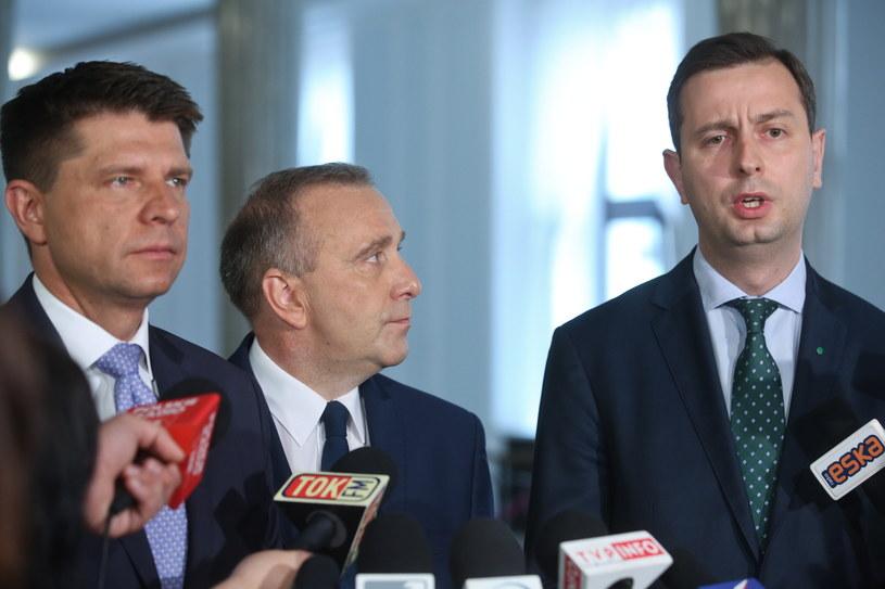 Ryszard Petru, Grzegorz Schetyna i Władysław Kosiniak-Kamysz /Rafał Guz /PAP