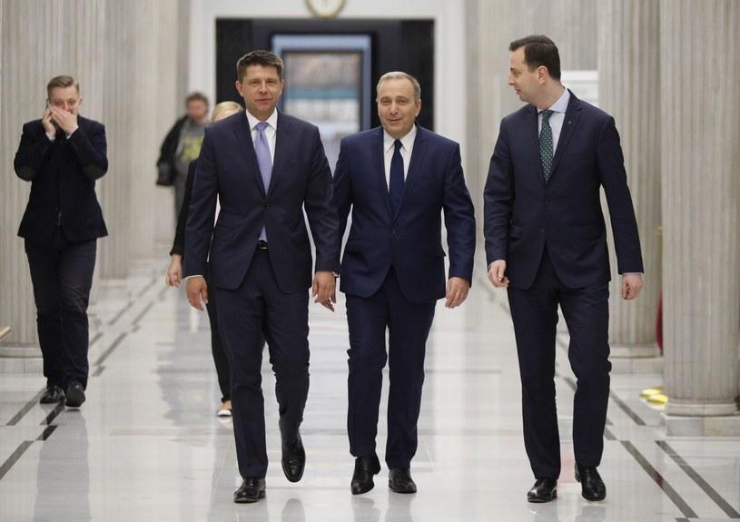 Ryszard Petru, Grzegorz Schetyna i Władysław Kosiniak-Kamysz /Stefan Maszewski /East News