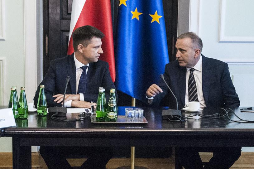 Ryszard Petru i Grzegorz Schetyna /Filip Blazejowski/Gazeta Polska /Agencja FORUM