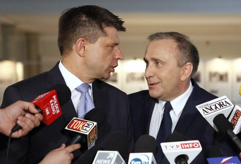 Ryszard Petru i Grzegorz Schetyna /Stefan Maszewski /Reporter