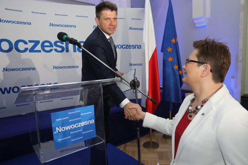 Ryszard Petru i Katarzyna Lubnauer podczas Rady Krajowej /Tomasz Gzell   /PAP