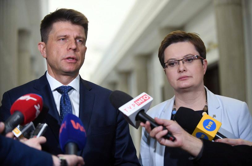 Ryszard Petru i Katarzyna Lubnauer /Bartłomiej Zborowski /PAP