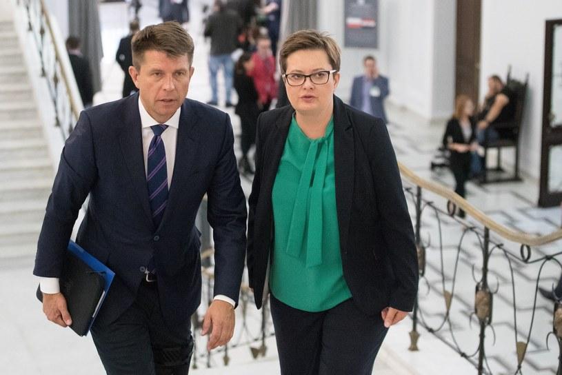 Ryszard Petru i Katarzyna Lubnauer /Andrzej Iwańczuk /Reporter