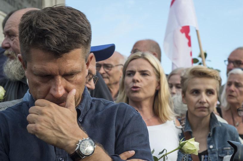 Ryszard Petru, Joanna Schmidt i Joanna Scheuring-Wielgus /Jacek Dominski/ /Reporter