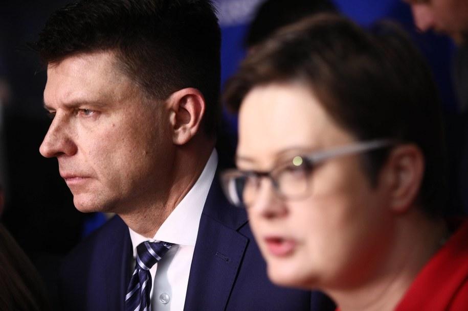 Ryszard Petru oraz Katarzyna Lubnauer na zdjęciu z grudnia 2017 roku / Leszek Szymański    /PAP