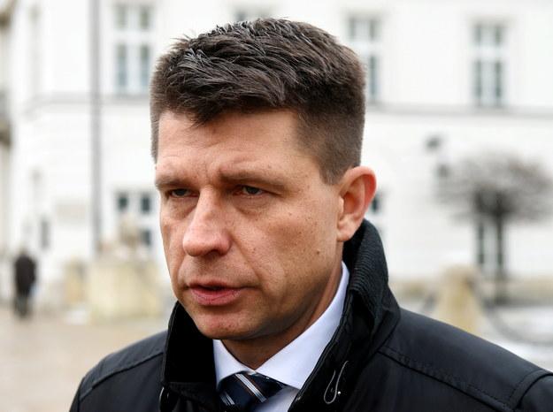 Ryszard Petru po spotkaniu z prezydentem /Radek Pietruszka /PAP