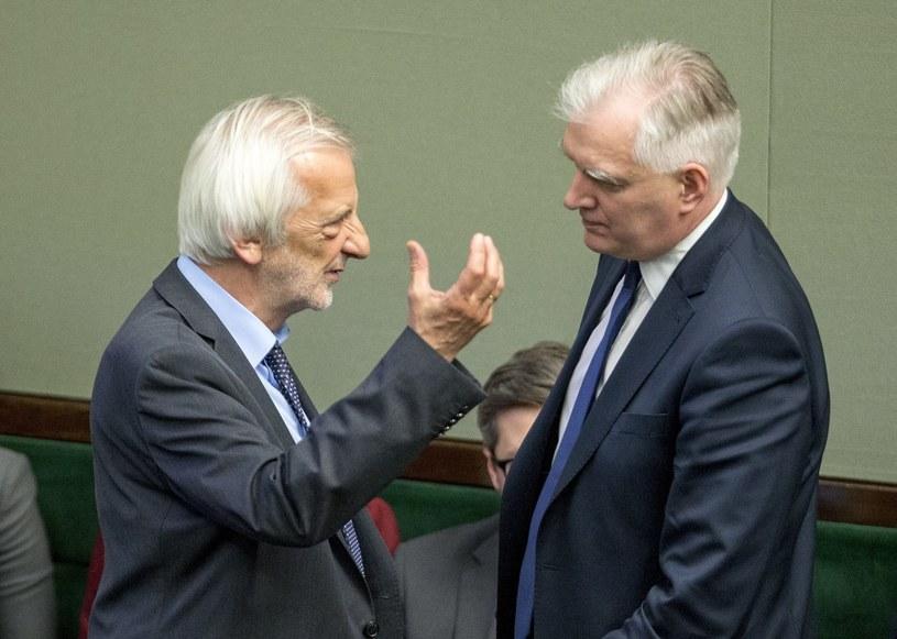 Ryszard Terlecki i Jarosław Gowin /fot. Andrzej Iwanczuk /Reporter
