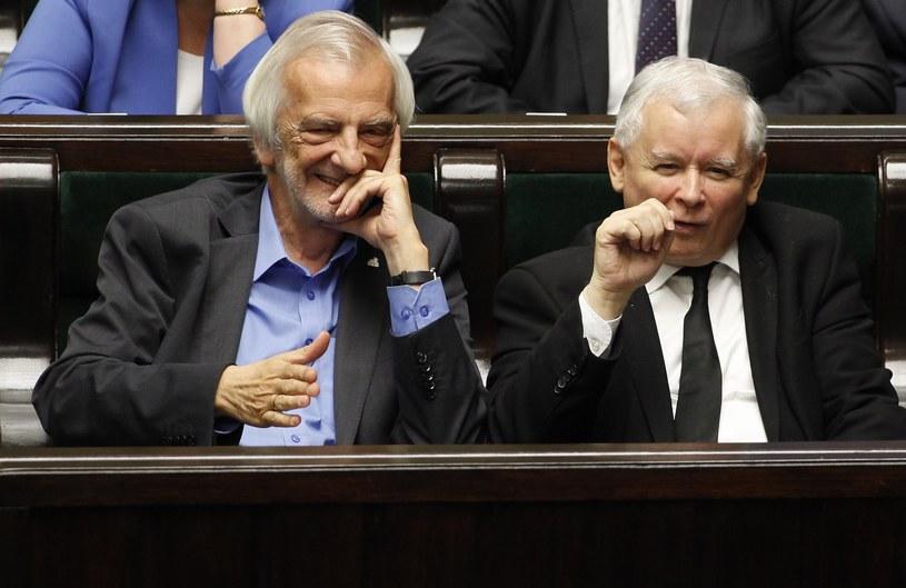 Ryszard Terlecki i Jarosław Kaczyński /Stefan Maszewski /Reporter