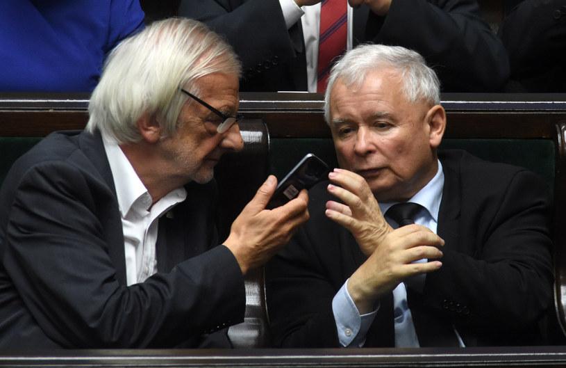 Ryszard Terlecki i Jarosław Kaczyński /Adam Chelstowski /Agencja FORUM