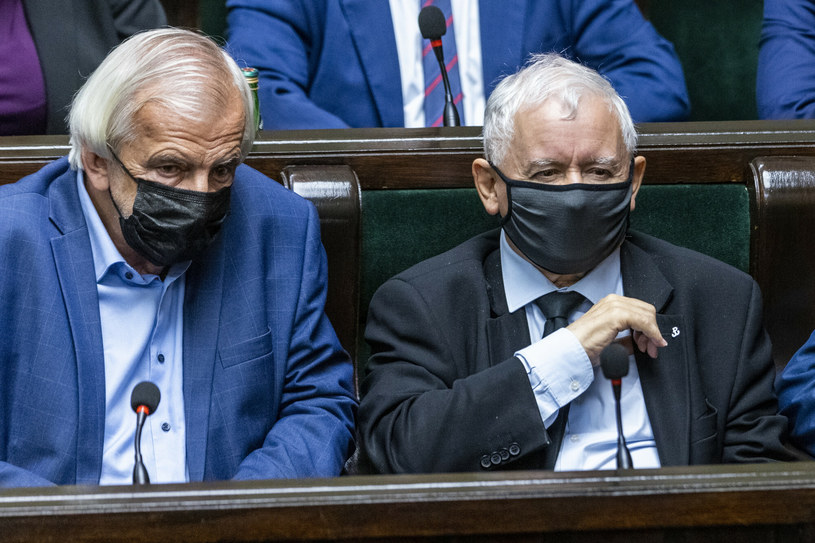 Ryszard Terlecki i Jarosław Kaczyński /Andrzej Iwańczuk /Reporter