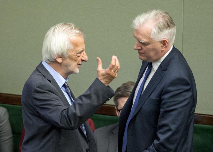 Ryszard Terlecki nie chciał komentować obecności Jarosława Gowina w rządzie /Andrzej Iwańczuk /Reporter