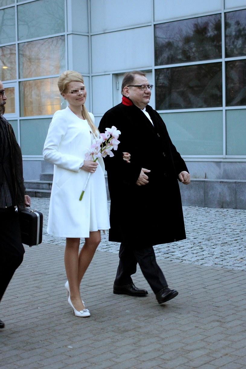 Ryszard z młodą żoną! /- /Foto IP