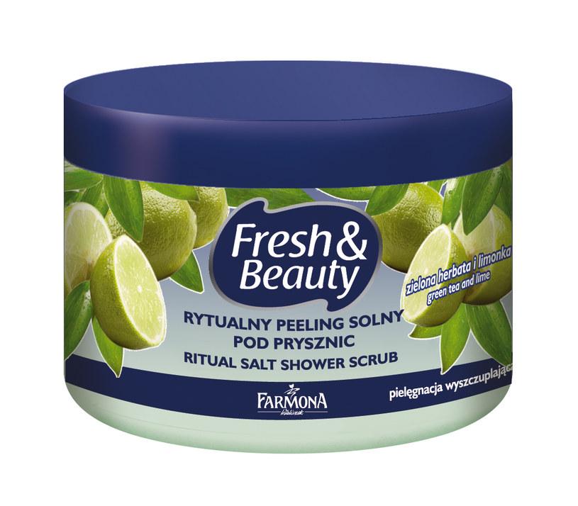 Rytualny peeling solny pod prysznic zielona herbata i limonka /materiały prasowe