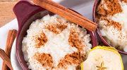 Ryż z cynamonem i waniliowym serkiem