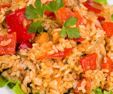 Ryż z jarzynami w czterech kolorach