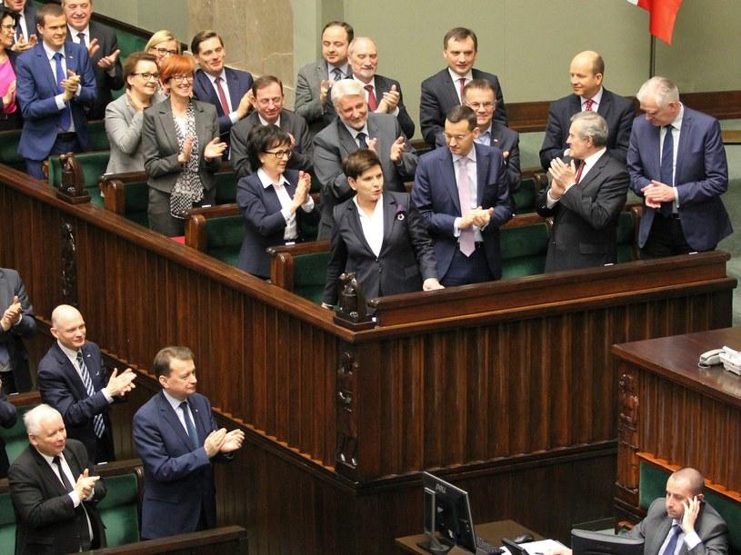 Rząd Beaty Szydło w ławach sejmowych /Robert Ostrowski /East News