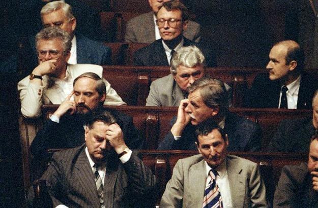 Rząd Jana Olszewskiego, 04.06.1992 / fot. Tomasz Wierzejski /Fotonova