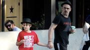 Rzadki widok! Colin Farrell na spacerze z synem Henrym Tadeuszem