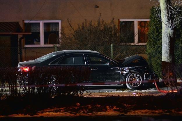 Rządowa limuzyna rozbita w wypadku w Oświęcimiu, fot. Łukasz Kalinowski /Agencja SE/East News