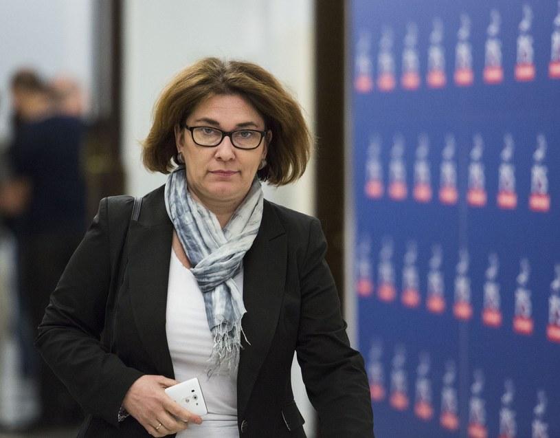 Rzeczniczka klubu PiS Beata Mazurek /Andrzej Hulimka/Reporter /East News