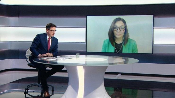 """Rzeczniczka Porozumienia Magdalena Sroka w programie """"Graffiti"""" /Polsat News"""