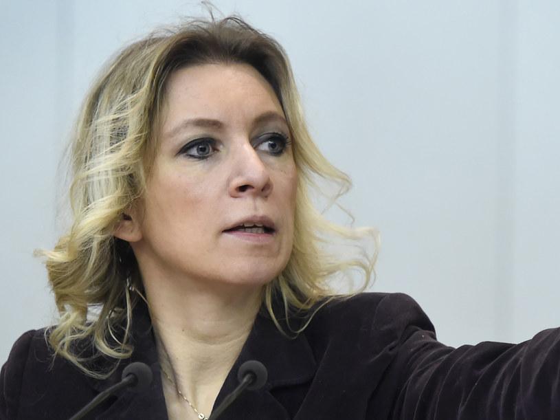 Rzeczniczka rosyjskiej dyplomacji Maria Zacharowa /AFP
