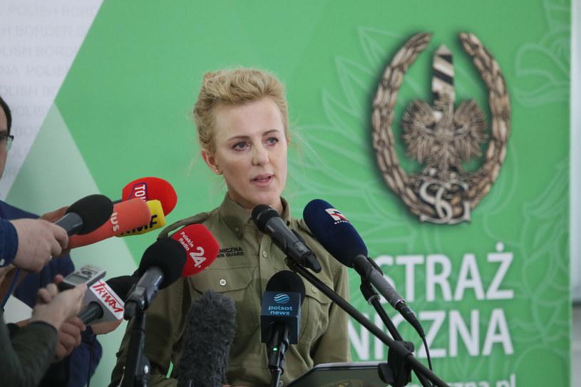 Rzeczniczka Straży Granicznej Anna Michalska /Piotr Molecki /East News