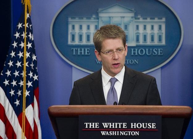 Rzecznik Białego Domu Jay Carney /AFP