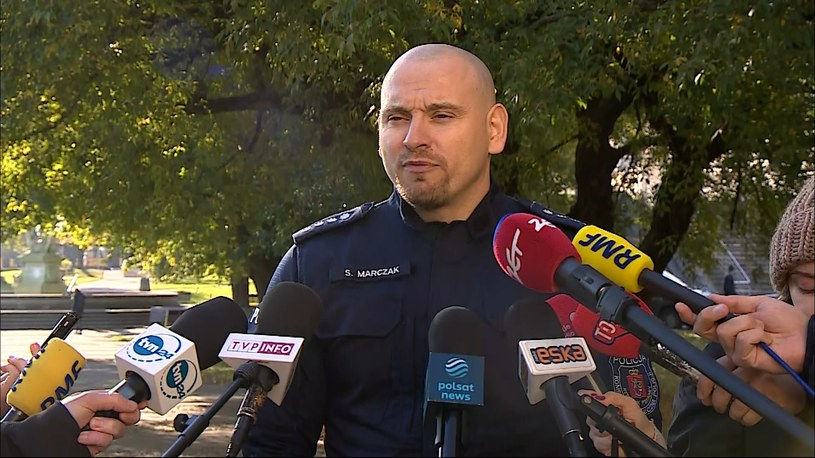 Rzecznik Komendy Stołecznej Policji Sylwester Marczak /Polsat News /Polsat News